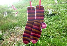 Obuv - pletené ponožky - pásikaté - 6649231_