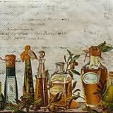 Papier - S671 - Servítky - olej, oliva, olivový - 6646024_