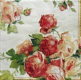 Papier - S673 - Servítky - ruža, ruže, roses - 6646047_