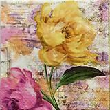 Papier - S674 - Servítky - kvety, pastelové, akvarel - 6646048_