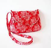 Kabelky - Kabelka červeno-biela - 6648264_