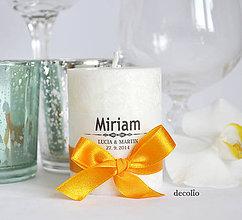 Darčeky pre svadobčanov - Darček a menovka #3 - 6648390_