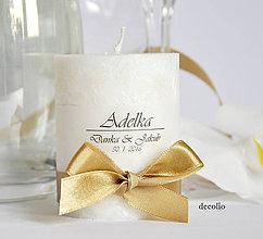 Darčeky pre svadobčanov - Darček a menovka #8 - 6648559_