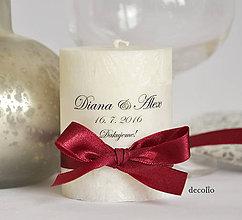 Svietidlá a sviečky - Darček pre hostí #11 - 6648614_