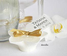 Svietidlá a sviečky - Darček pre hostí - plávajúca sviečka P10 - 6648878_