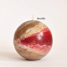 Svietidlá a sviečky - Chocolate Cherry - guľa - 6648980_