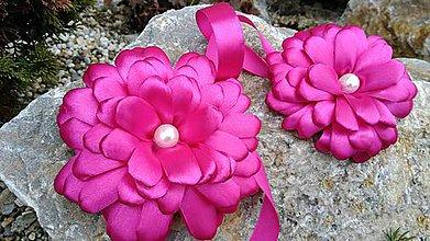 Úžitkový textil - Spony na záves-záclonky gerbera - 6650167_
