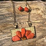 bronzová sada s červeným jaspisom