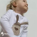 Detské oblečenie - body ZAJKO UŠKO (dlhý/krátky rukáv) - 6423633_