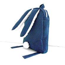 Detské tašky - RUKSAK zajačik od 2,5 r., tmavo modrý - 6647597_