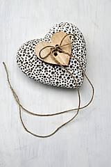 Prstene - Vankúšik na obrúčky-srdce - 6645993_