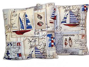 Úžitkový textil - Vankúš Námornícky II - 6650028_
