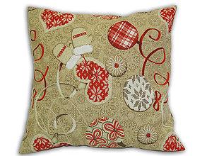 Úžitkový textil - Vankúš Vianočná - 6650233_