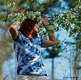 Topy, tričká, tielka - Dámske tričko batikované a maľované CIK-CAK - 6646516_