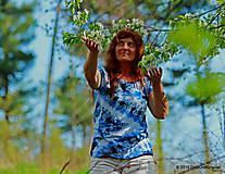 Topy, tričká, tielka - Dámske tričko batikované a maľované CIK-CAK - 6646518_