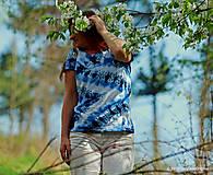 Topy, tričká, tielka - Dámske tričko batikované a maľované CIK-CAK - 6646532_