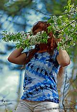 Topy, tričká, tielka - Dámske tričko batikované a maľované CIK-CAK - 6646547_