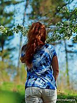 Topy, tričká, tielka - Dámske tričko batikované a maľované CIK-CAK - 6646549_