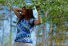 Topy, tričká, tielka - Dámske tričko batikované a maľované CIK-CAK - 6646563_