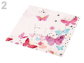 Papier - servítky motýlie - 6647446_