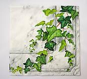 Papier - Servítka P 1-Maľovaný brečtan - 6647067_