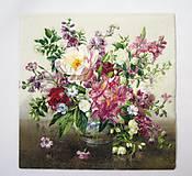 - Servítka kvety K17-vo váze - 6648693_