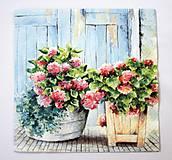 - Servítka K18-Kvety v okne - 6648710_