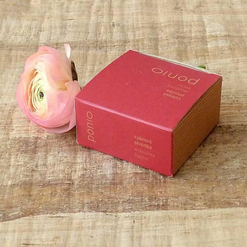 Cukrová pivonka - masážna kocka