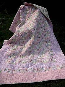 Úžitkový textil - Romantická ružová - 6647144_