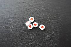 - Srdiečko z akrylátu - okrúhle - 6649678_