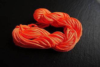 Galantéria - Nylonová šnúrka 1,8-2,0mm oranžová - 6648960_