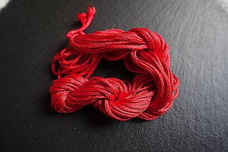 Galantéria - Nylonová šnúrka 1,8-2,0mm červená - 6648995_