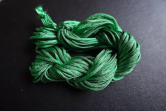 Galantéria - Nylonová šnúrka 1,8-2,0mm zelená - 6649052_