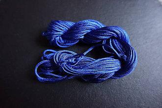 Galantéria - Nylonová šnúrka 1,8-2,0mm modrá - 6649107_