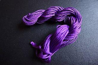Galantéria - Nylonová šnúrka 1,8-2,0mm fialová - 6649131_