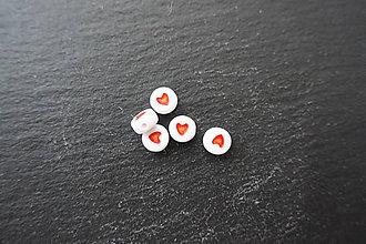 Korálky - Srdiečko z akrylátu - okrúhle - 6649678_