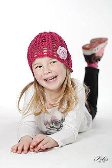 Detské čiapky - bordová dierovaná čiapka - 6649973_