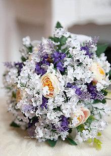Kytice pre nevestu - kytica pre družičku z umelých kvetov - 6646015_