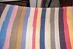Úžitkový textil - Tkaný pestrý koberec bez bielej a čiernej - 6649043_