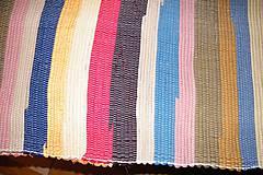 Úžitkový textil - Tkaný pestrý koberec bez bielej a čiernej - 6649044_
