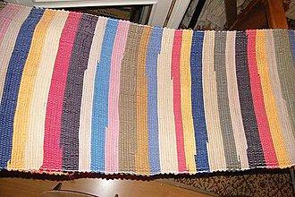Úžitkový textil - Tkaný pestrý koberec bez bielej a čiernej - 6649045_