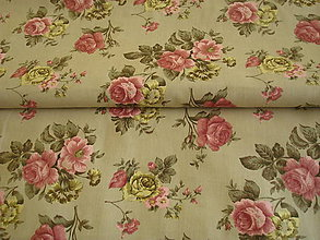 Textil - Látka ruže na režnom - 6650925_