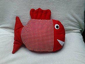Úžitkový textil - Vankúš ryba červená - 6650667_