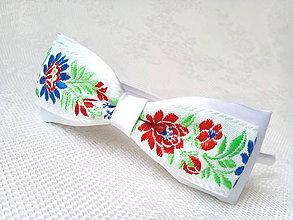 Ozdoby do vlasov - Slovak folklore headband (white) - 6651458_