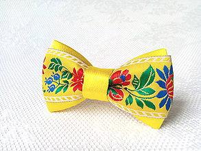 Ozdoby do vlasov - Mini Folklore hair clip (yellow) - 6652249_