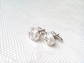 Šperky - Manžetové gombíky Mr. Elegant (strieborné) - 6652362_