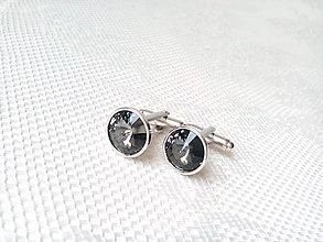Šperky - Manžetové gombíky Mr. Elegant (šedé) - 6652383_
