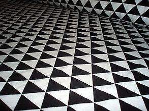 Textil - Úplet - ČB trojuholníky - 6650657_