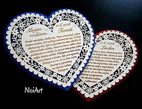 Darčeky pre svadobčanov - Srdce Poďakovanie Rodičom 13 - 6651042_