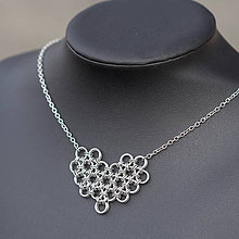 Náhrdelníky - Náhrdelník Valentine II (stříbrný) - 6650573_